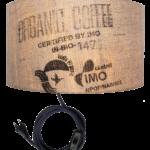 Wandeuchte N°60 Perlbohne aus Kaffeesack